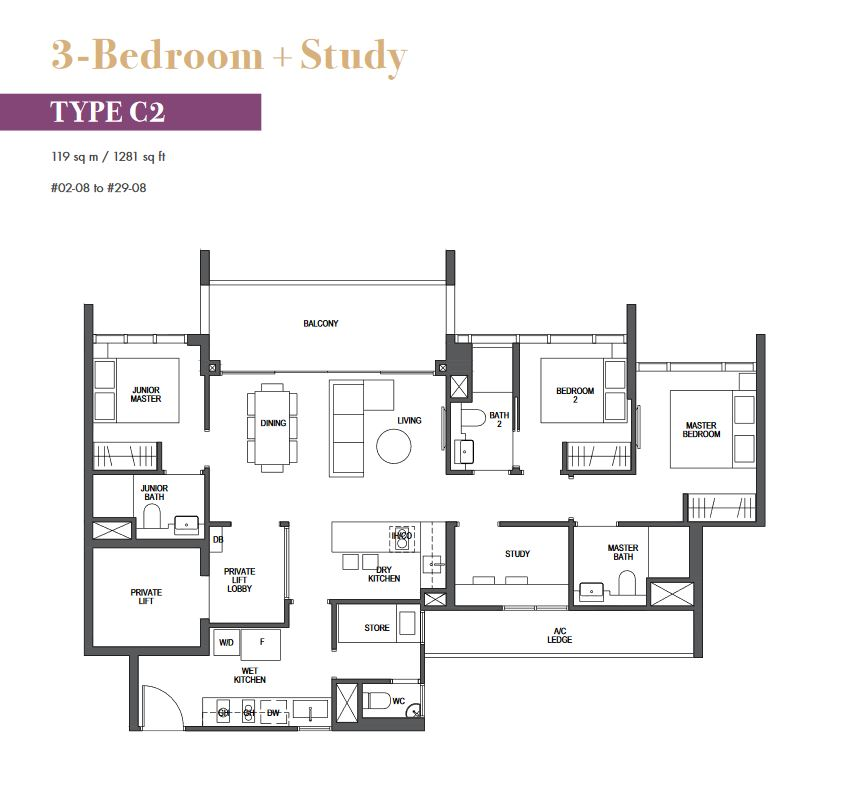 pullman-residences-floor-plan-3-bedroom+study